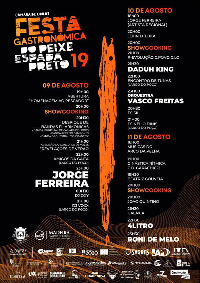 Black Scabbard Fish Festival Official Program of 2019 - Tropical Rent Madeira